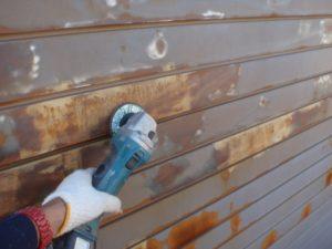 外壁塗装のケレン作業