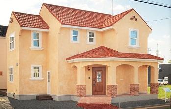 外壁塗装の人気色オレンジ