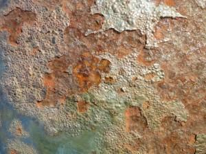 鉄部に錆止め塗料